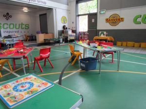 A range of activity tables are set out daily